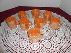 8 Anchor Hocking Fire-King ware Mugs Cups  C Handle Peach Lustre U.S.A.