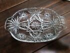 Vintage Clear Glass Divided Relish Dish - Star Burst