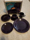 Fiesta 5 pc.place setting  + EXTRA MUG  dinnerware in Plum 830 323