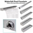 Rectangular Waterfall Pool Pond Outdoor Fountain Garden Decor Stainless Steel