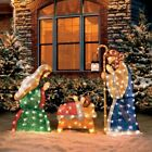 Nativity Scene Holy Family Christmas Yard Sculpture Indoor Outdoor Decorations
