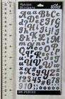 Sticko SILVER FOIL ALPHA SM Package SILVER Alphabet  Number Stickers