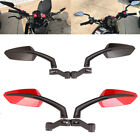 Motorcycle Angled Steady Rearview Mirrors 8/10mm For CB500F GSX-750 Lightning GS