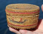 VERY FINE OLD NORTHWEST COAST PICTORIAL MAKAH NUU-CHAH-NULTH BASKET c1900