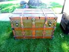 Antique Steamer Flat Top Storage Custom Made Trunk 1890's-1900's Local Pickup
