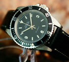 ZENITH DIVER SUBMARINER MILITARY AUTOMATIC WATCH ROTARY BEZEL BIG SIZE SS CASE