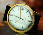 STUNNING DIAL ULYSSE NARDIN MEN'S WATCH IN GOLD PLATED CASE 1950's