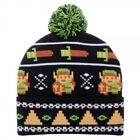 Nintendo Legend of Zelda 8-Bit Pixel Pom Beanie Winter Hat Cap Link Video Game