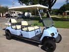 2006 light blue gas yamaha 6 passenger seat limo golf cart people mover lifted