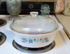 Royal China Fire King BLUE HEAVEN  Round Ovenware Covered CASSEROLE DISH