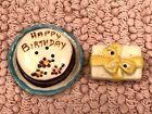 Vintage Happy Birthday Cake and Present Salt and Pepper Shakers