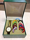 Vintage Authentic Gucci 11/12.2 Women's watch with 12 Interchangeable Bezel