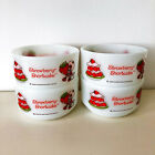 Four Strawberry Shortcake Bowls Fire King Anchor Hocking~American Greetings 1980