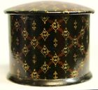 QUALITY ANTIQUE CHINOISERIE PAPIER MACHE TOBACCO BOX ENGLISH OR FRENCH