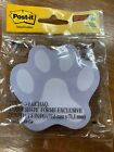 2x 50ct Post-it Notes Super Sticky Puppy Paws Dog Yellow Gray Blue 3 X 3 3m