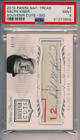 2015 Panini National Treasures Souvenir Cuts Auto 99 Ralph Kiner #6 PSA 9 POP 1