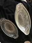 Vintage Hobnail Ribbed Banana Split Ice Cream Parlor Dish Bowls Boat Glass
