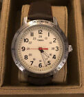 Brand New Timex Weekender T2N637 Watch - Brown Band, Ivory Face