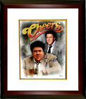 George Wendt signed Cheers 8x10 Photo Framed (NORM PETERSON)- JSA Witnessed Holo