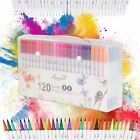 100120color Watercolor Brush Marker Pens Dual Tips Soft Fine Art Drawing Pen