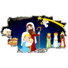 Wall Stickers Nativity Christmas Star Angel Bedroom Girls Boys Kids Room G995