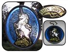 Mon Droit Unicorn Leaded stained glass Suncatcher window decor Glassworks mark