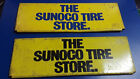 Two Old Vtg Collectible The Sunoco Tire Store Metal Sign 11