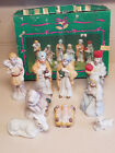 Vintage MEI Item 2102 Nine 9 Piece Nativity Figurines Made In Taiwan