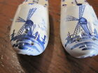 Holland Delft Blue Dutch Shoes Salt  Pepper Shakers with box Nice