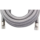 Certified Appliance Accessories Braided Stainless Steel Ice Maker Connector, 15f