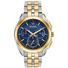 Bulova CURV Men's Collection Quartz Chronograph Blue Dial 43mm Watch 98A159