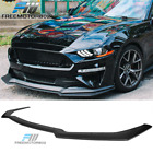 Fits 18 20 Ford Mustang GT Style Add on Front Bumper Splitter Lip Black PP