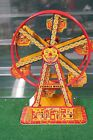 J CHEIN  CO NO 172 TIN PLATE FERRIS WHEEL EXCELLENT OPERATING 1940S