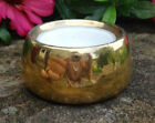 Hutschenreuther Gold Porcelain Open Salt Dip Cellar Dish w Yellow Flower