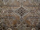 10X7 1940's BREATHTAKING MINT ANTQ HAND KNOTTED 70+YRS BROWN FERDOWS PERSIAN RUG