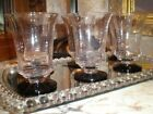 VTG Set of 6 Elegant Cordial Glasses Clear w/Black Base Never Used Mint Cond.