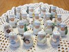 Rare Vintage Antique Lot 18 Cute Mini Germany Chef Cook Salt And Pepper Shakers