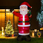 Glitzhome 1181FT Christmas Santa Lighted Inflatable Air Blown Yard Garden Decor