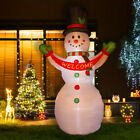 Glitzhome 1181FT Snowman Welcome Christmas Light Inflatable Airblown Yard Decor
