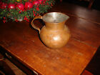 AN EXTREMELY EARLY ,AMERICAN COLONIAL PERIOD HAND DOVETAILED COPPER PITCHER