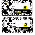 New 2pc Set Walt Disney Mickey Mouse Expression Car Truck License Plate Frames