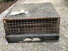 Primitive Rustic Wood Baby Chick Shipping Box Vintage Poultry Decor Display