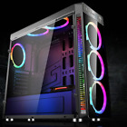 Gaming PC Computer Case ATX Full Tower USB30 W 4 RGB 120mm Aurora Cooling Fans