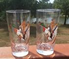 Vintage Libbey Glass Tumblers Canadian Goose Duck Weighted Bottom 14 oz Lot of 2