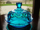 STaR ArT GLaSs BuTTeR ~ CHeeSe Dome Dish w/ Lid