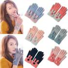 Outdoor Women Cycling Warm Knitted Gloves Wool Full Finger Touch Screen Gloves