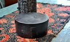 Antique Lidded Pantry Box in Early Original Black Paint *