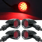 4x Motorcycle 10mm Running Brake LED Turn Signal Light Red For Harley Touring US