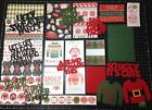 Ugly Christmas Sweater Scrapbook kit Project Life Paper die cuts