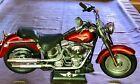 Harley Davidson Fat Boy Large Motorcycle New Bright w Stand RC
